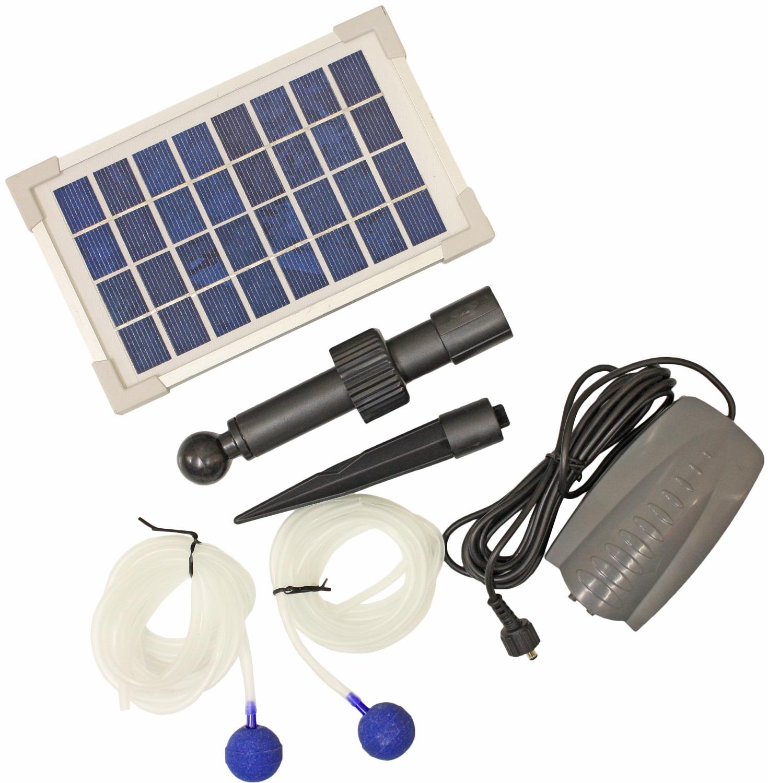 Pond oxygenator solar powered water pump 2 air stones for Pond oxygenator