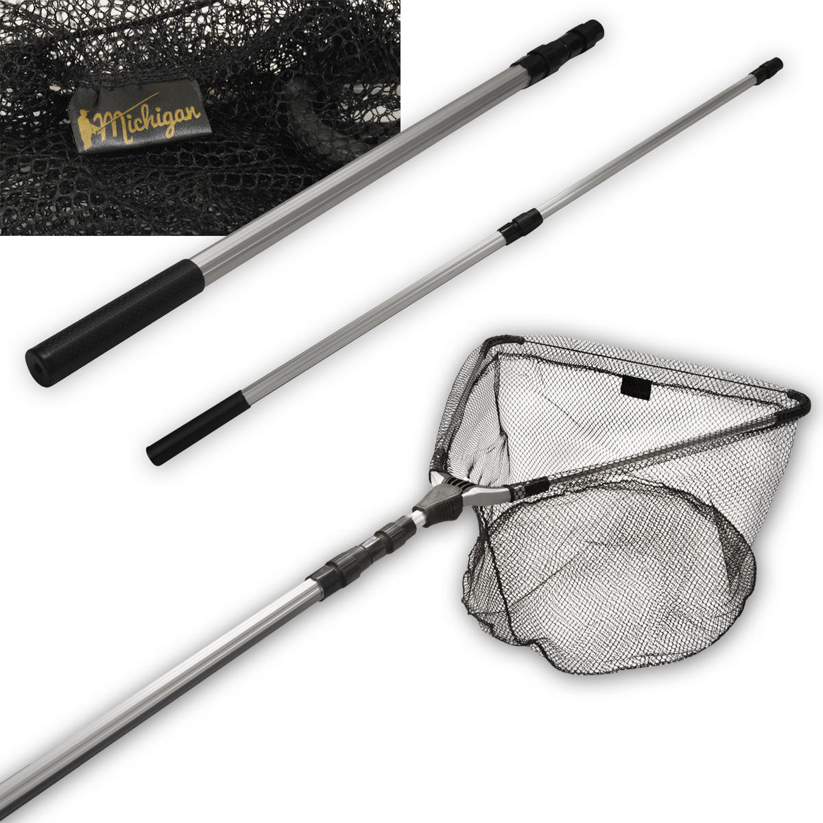 Michigan telescopic fishing net 1 3 1 7m 50cm head for Telescoping fishing net