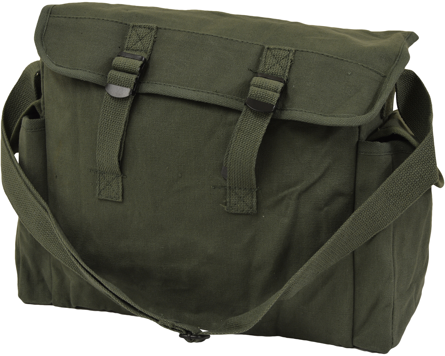 Large olive green canvas haversack messenger bag military satchel ebay for Does olive garden give military discount
