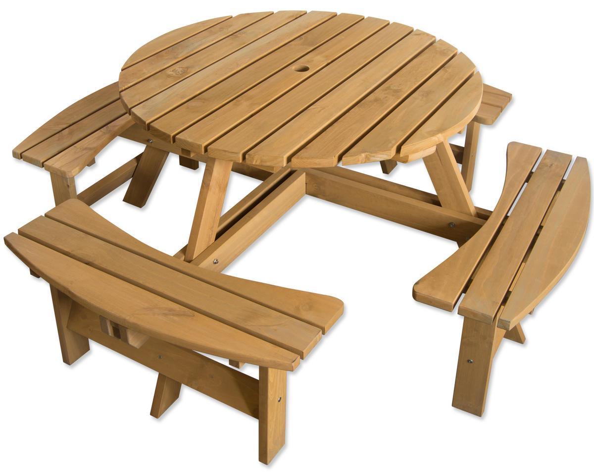Maribelle 8 Seater Garden Bench - STAINED