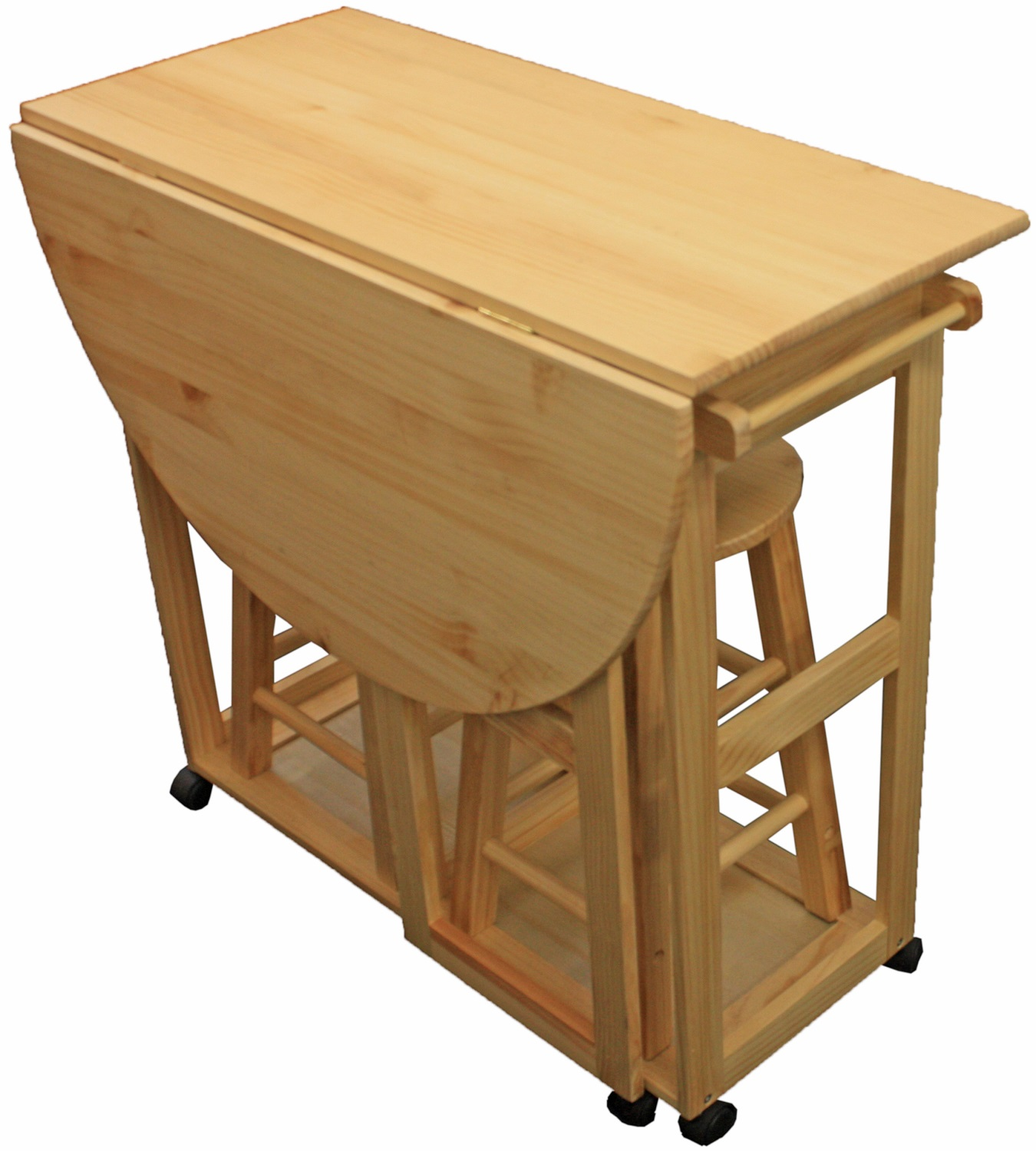 Folding Bar Table And Stools 39 Quot Nassau Dropleaf Bar Table With 4 Folding Chairs Bar