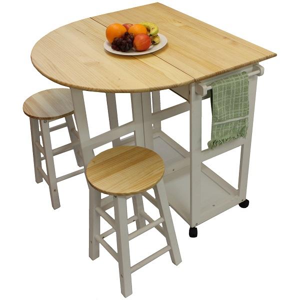 MARIBELLE FOLDING TABLE AND STOOL SET KITCHEN BREAKFAST ...