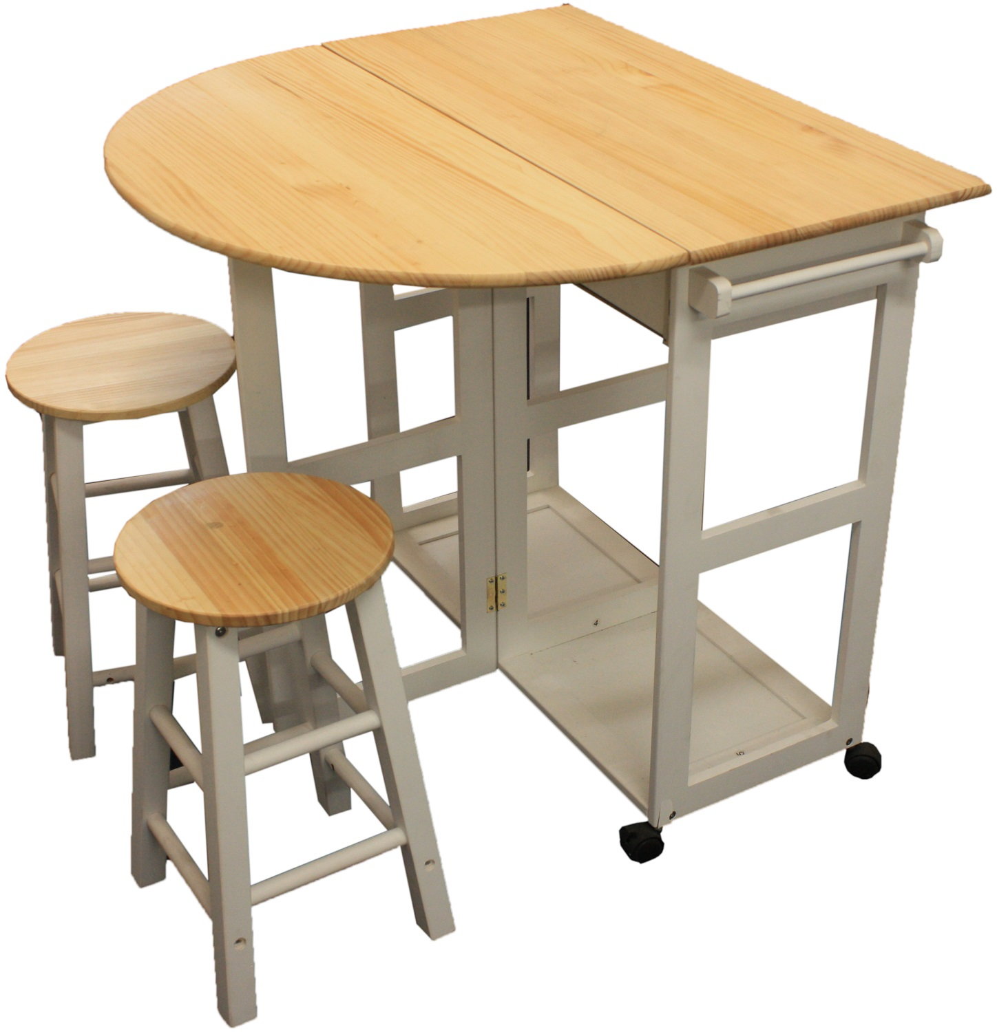 Maribelle folding table and stool set kitchen breakfast for Kitchen table with stools