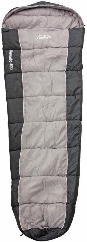 Andes Nevado 400 Sleeping Bag - BLACK/GREY Preview