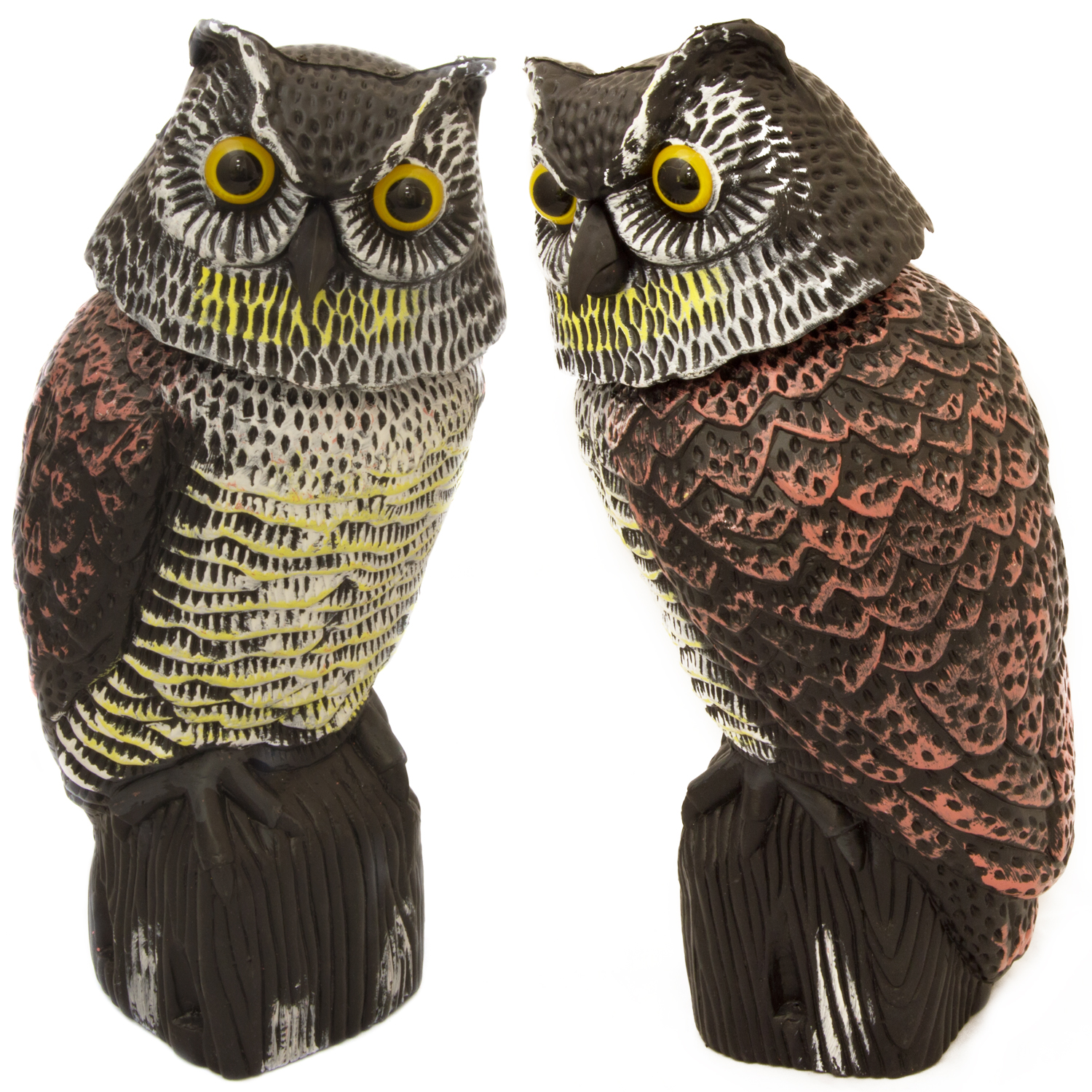Woodside large realistic bird pigeon crow owl decoy with for Owl fish clothing