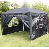 Andes 3m x 3m Folding Gazebo Side Wall Pack - BLACK
