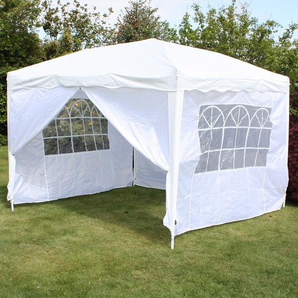 Andes 3m x 3m Folding Gazebo Side Wall Pack - WHITE