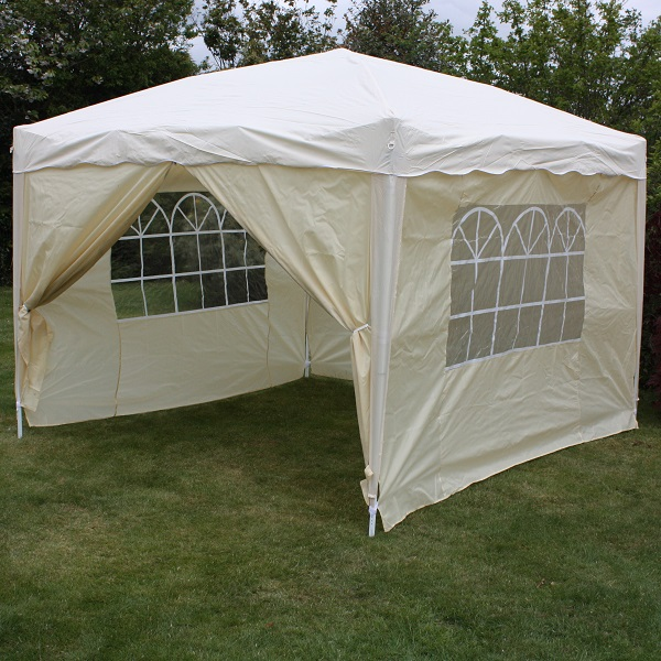 Andes 3m x 3m Folding Gazebo Side Wall Pack - BEIGE