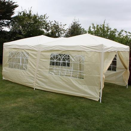 Andes 6m x 3m Folding Gazebo Side Wall Pack - BEIGE 1 DOOR