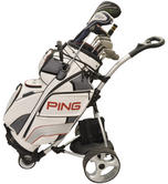 Clubbers Electric Golf Trolley With Accessories Thumbnail 1