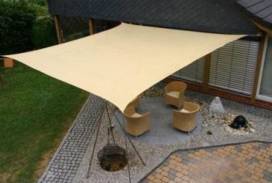 garden sand square sail shade sun shelter patio. Black Bedroom Furniture Sets. Home Design Ideas