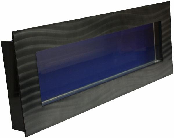 Black Medium Panoramic Wall Mounted Fish Tank And