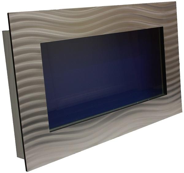 Silver large rectangular wall mounted fish tank and - Rectangular fish tank sizes ...