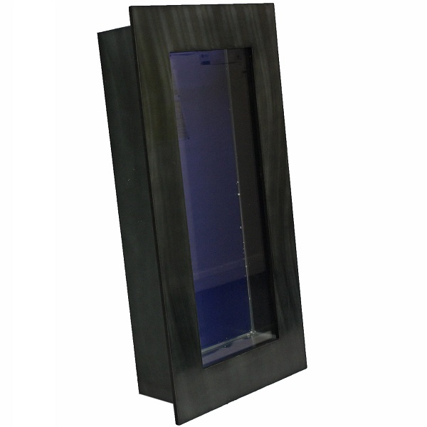 BLACK VERTICAL WALL MOUNTED FISH TANK AND ACCESSORIES AQUARIUM HOME ...
