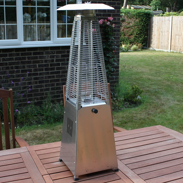 Hausen 3kw Pyramid Real Flame Patio Gas Table Top Heater