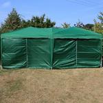 Andes 6m x 3m Folding Gazebo Side Wall Pack - GREEN 2 DOORS Thumbnail 2