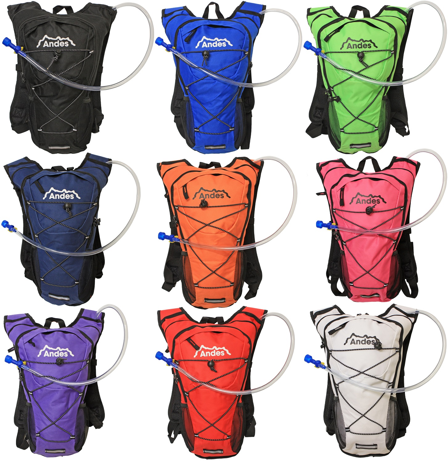 Andes 2 Litre Hydration Pack/Backpack Bag With Water Bladder For ...