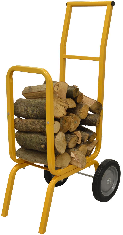 Heavy duty log cart firewood timber trolley barrow wood burner ebay