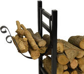 Hausen Indoor Wood Rack With Kindling Holder Thumbnail 2