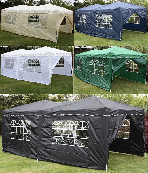 Andes 6m x 3m Gazebo With Side Wall Pack 1 Door