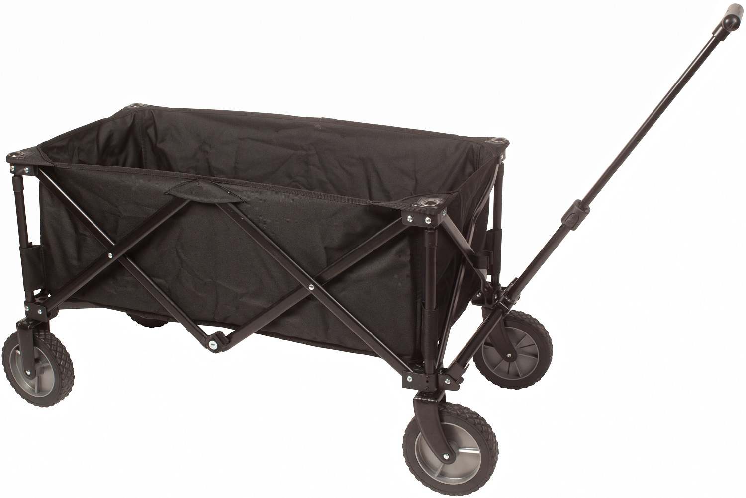 Beach wagon cart with big wheels best folding beach for Folding fishing cart