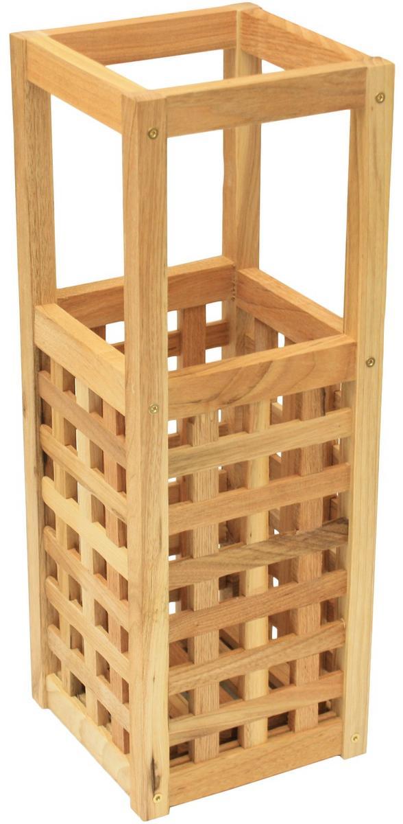 Wooden Umbrella Stand ~ Maribelle square wooden umbrella stand small storage