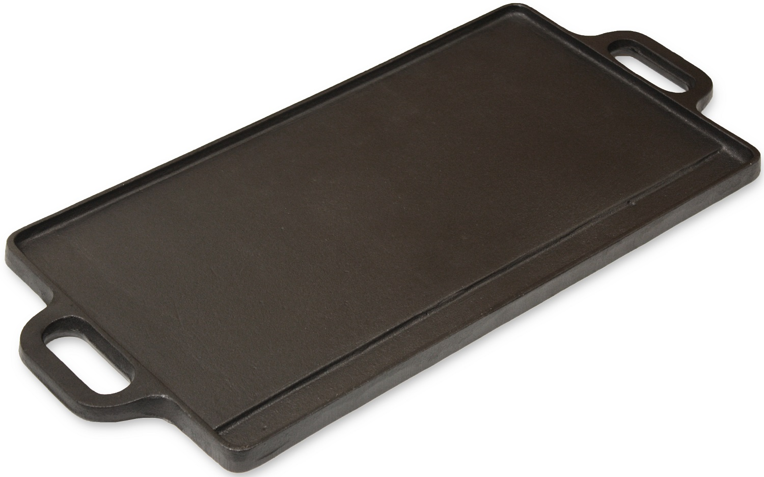 Andes Cast Iron Double Sided Ribbed Grill Pan Camping Bbq