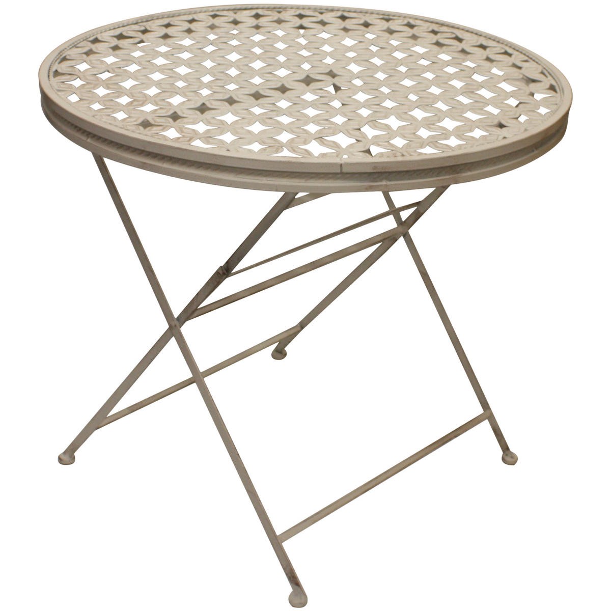 Woodside round metal table four square chairs for Metal patio table and 4 chairs