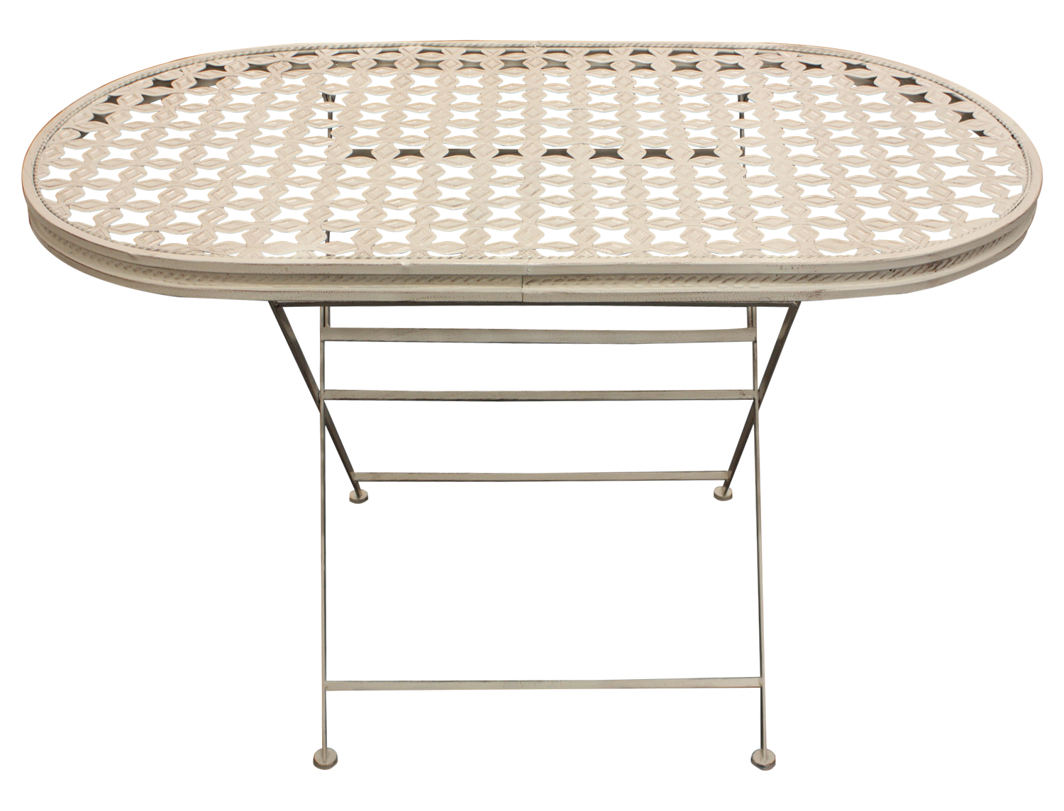 Maribelle Oval Folding Metal Garden Patio Dining Table Outdoor Furniture EBay