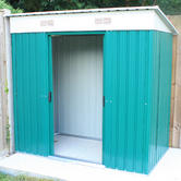 Woodside Darlington Metal Garden Pent Roof Shed with FREE Foundation