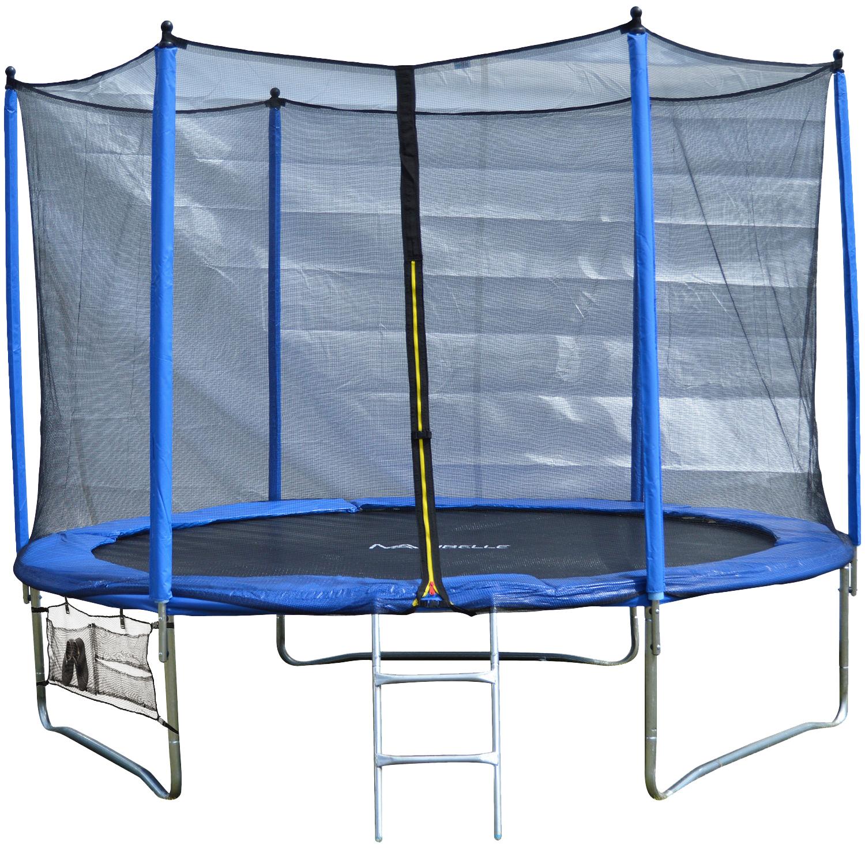 Maribelle Trampoline With Safety Net Enclosure, Ladder