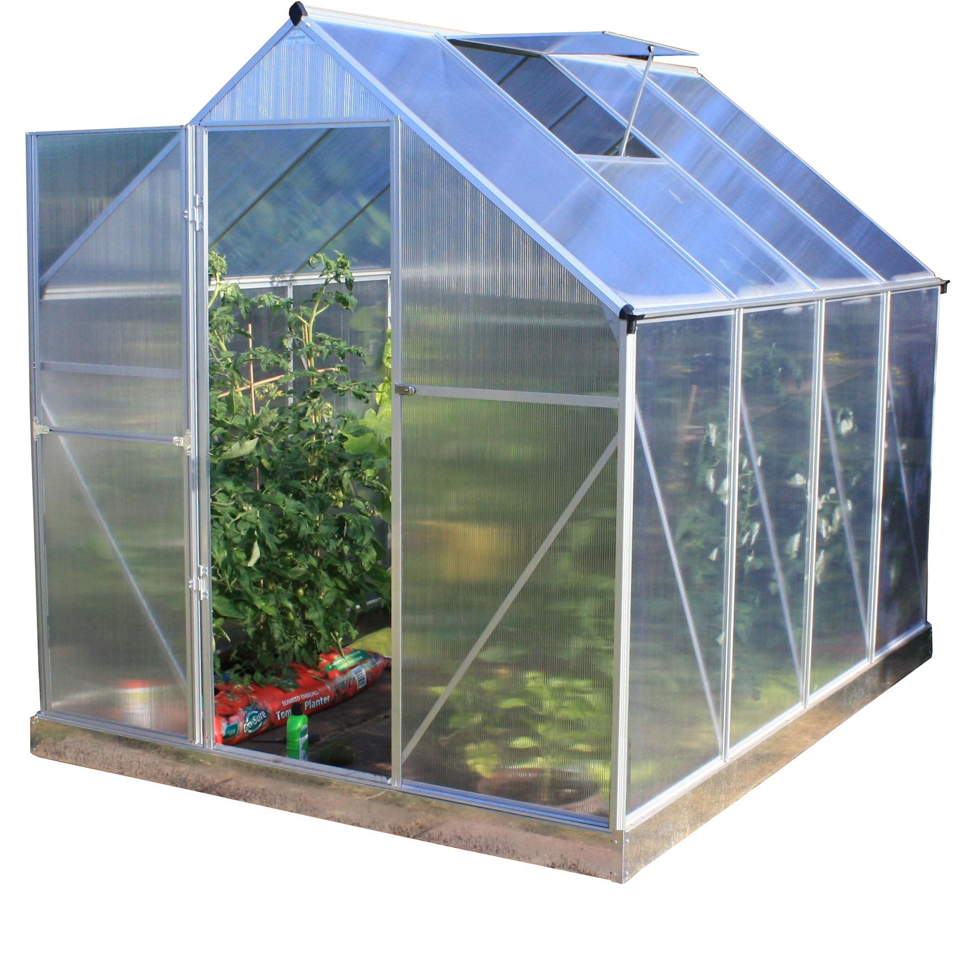 Woodside aluminium polycarbonate greenhouse buildings outdoor value - Serre aluminium polycarbonate ...