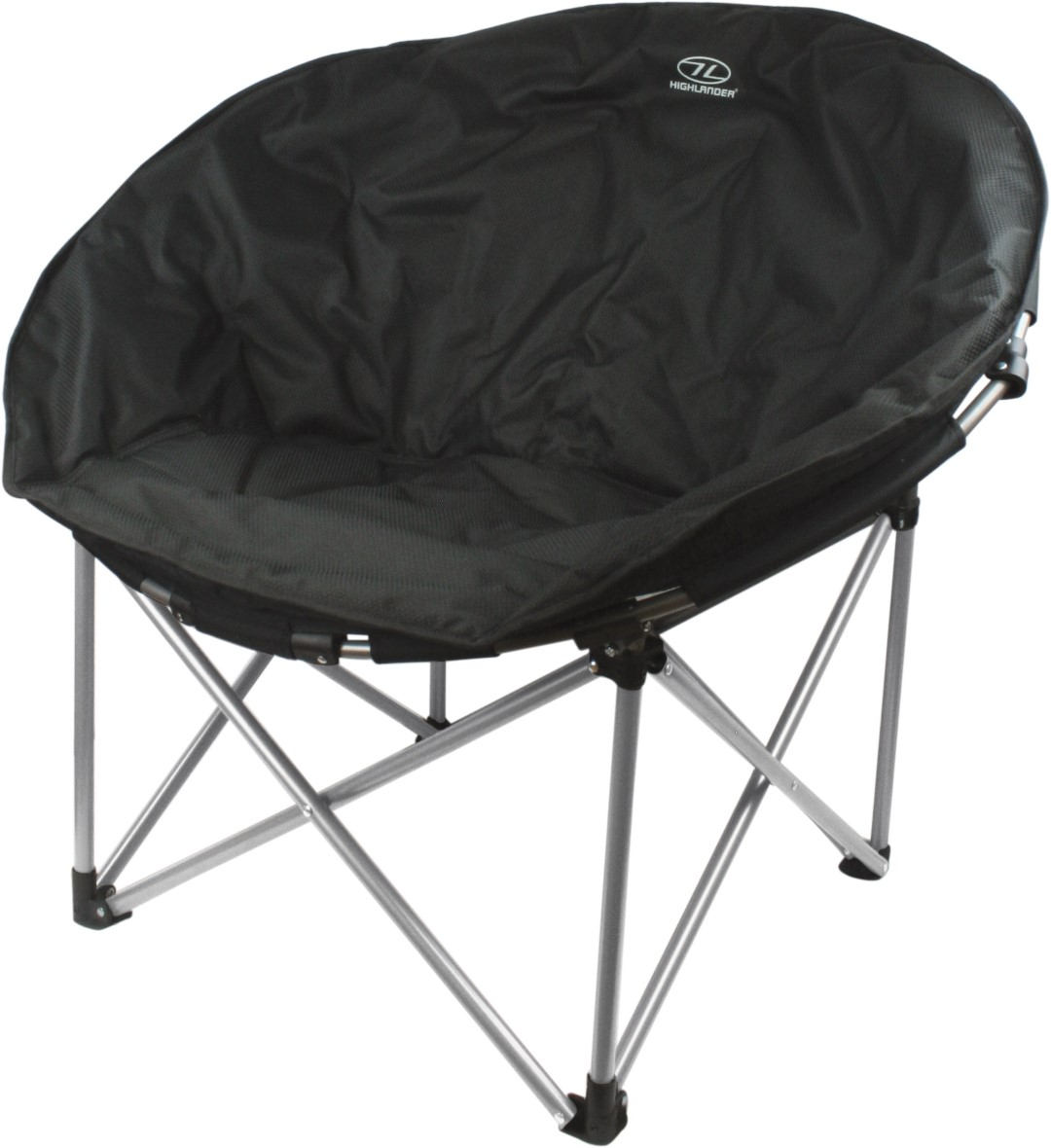 Highlander Black Moon Chair Portable Folding Camping Furniture Seat