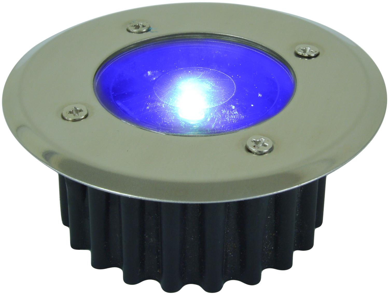 Solar powered led deck lights white or blue stainless for Decking lights
