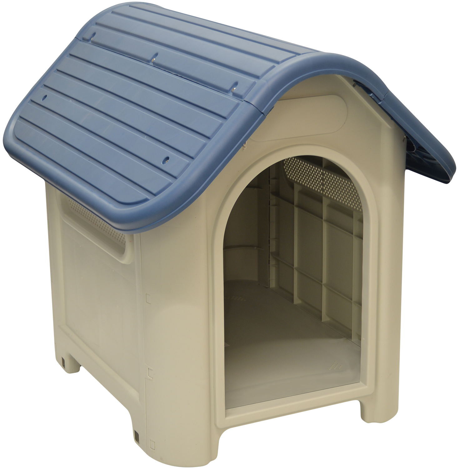 woodside plastic dog puppy kennel indoor outdoor pet. Black Bedroom Furniture Sets. Home Design Ideas