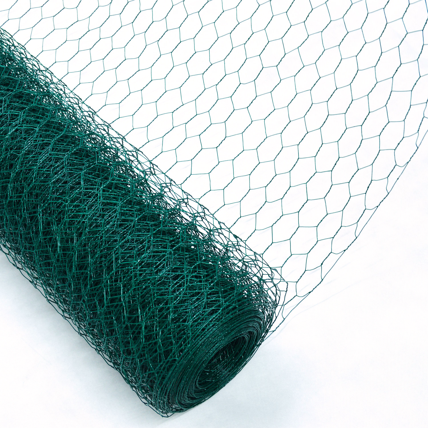 Woodside 25m Pvc Coated Chicken Rabbit Wire Mesh Fence