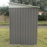 Woodside Oxbridge Metal Garden Pent Roof Shed with FREE Foundation GREY Thumbnail 2
