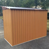 Woodside Elmwood Metal Garden Pent Roof Shed with FREE Foundation WOOD Thumbnail 4