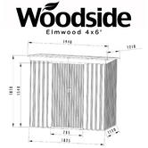 Woodside Elmwood Metal Garden Pent Roof Shed with FREE Foundation WOOD Thumbnail 10