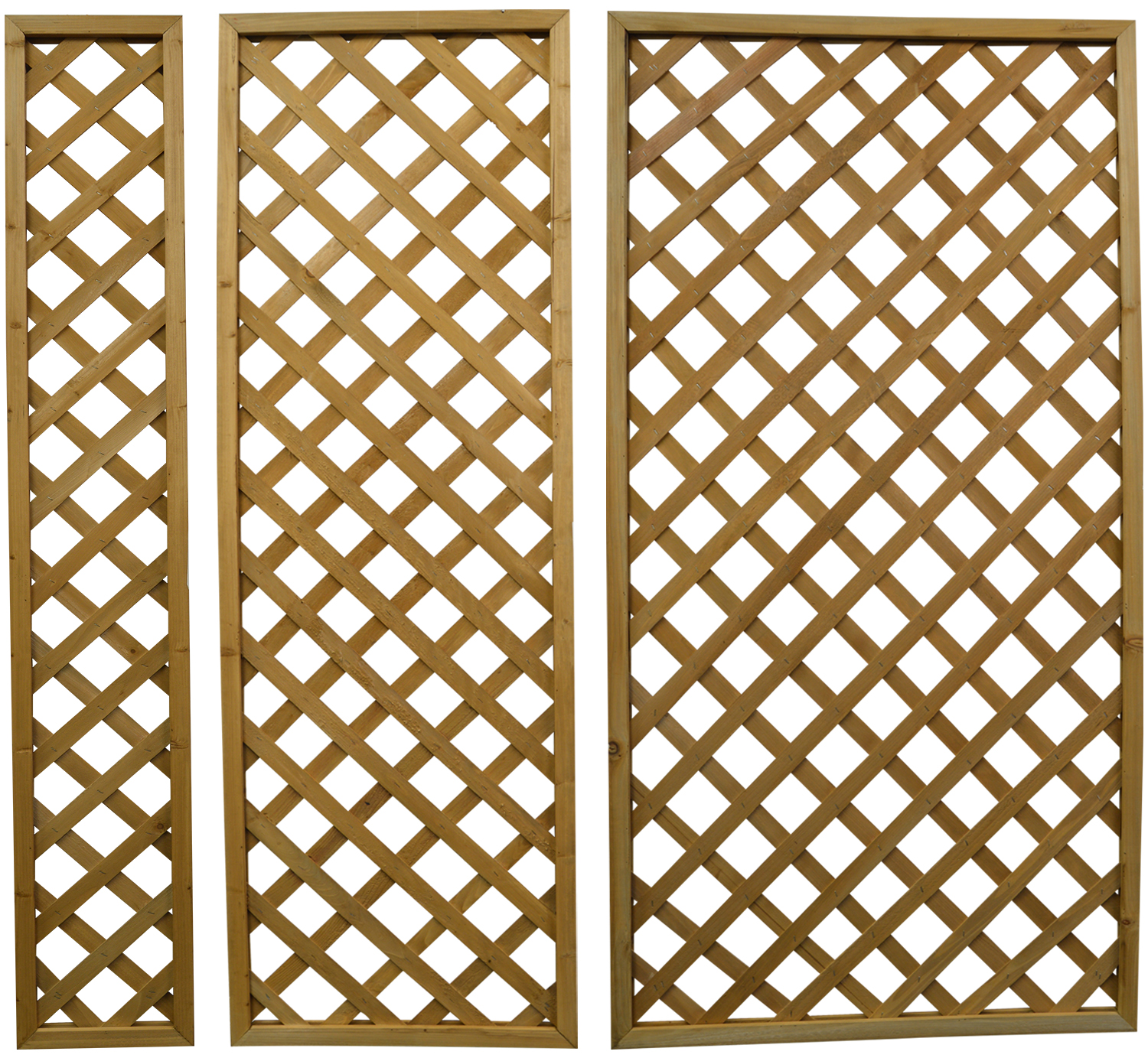 Woodside Wooden Outdoor 180cm Lattice Pattern Garden