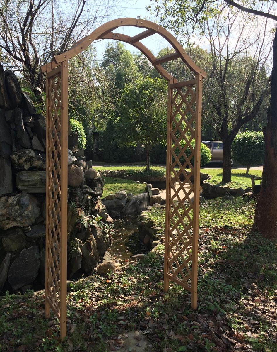 Woodside Wooden Garden Arch Ornamental Outdoor Value
