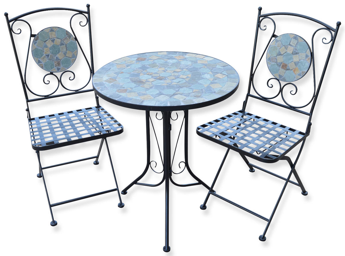 Woodside mosaic table and chair set furniture outdoor for Table and chair set