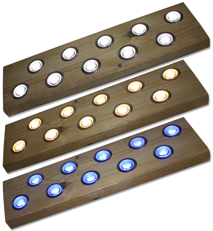 woodside set of 10 30mm deck lights lighting outdoor value