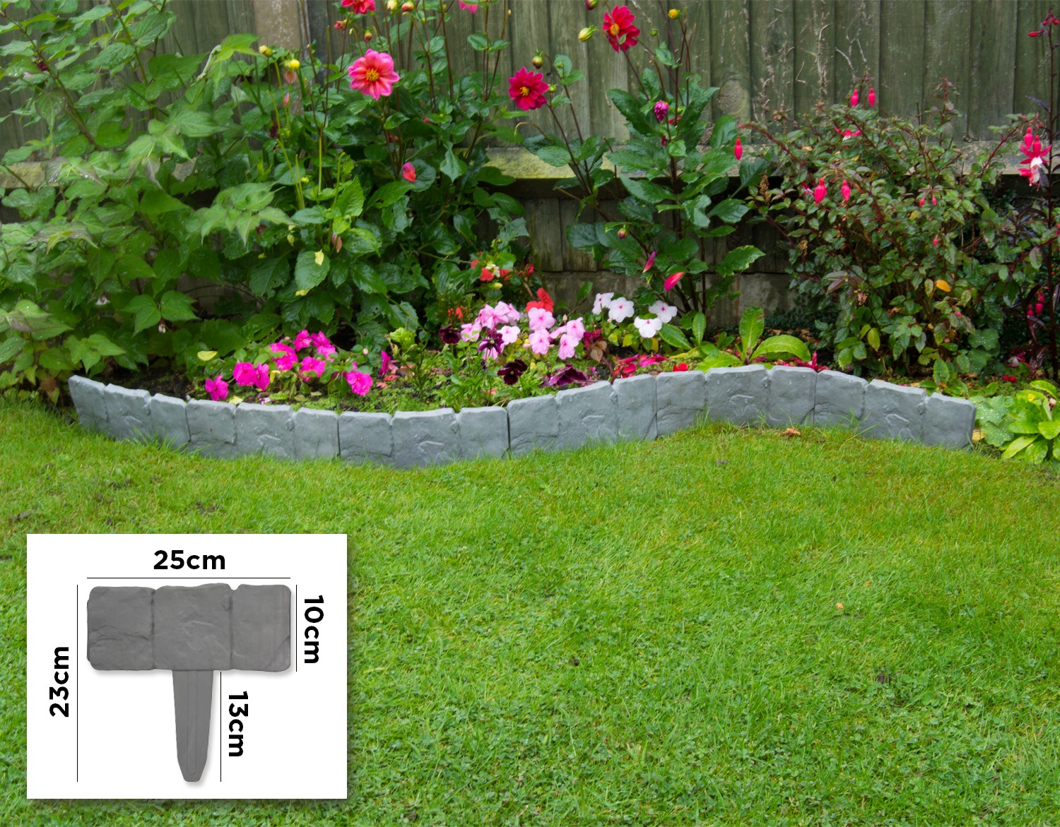 Woodside border fence 20 pack fencing outdoor value for Garden edging prices