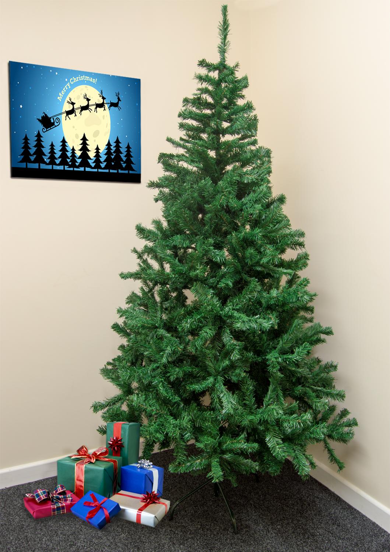 Traditional 7ft Green Christmas Xmas Tree 210cm Artificial
