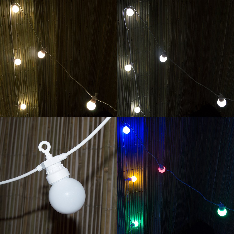 Festoon Party String Lights : Woodside 20LED Opaque Festoon Lights Outdoor Garden Wedding Xmas Party String eBay