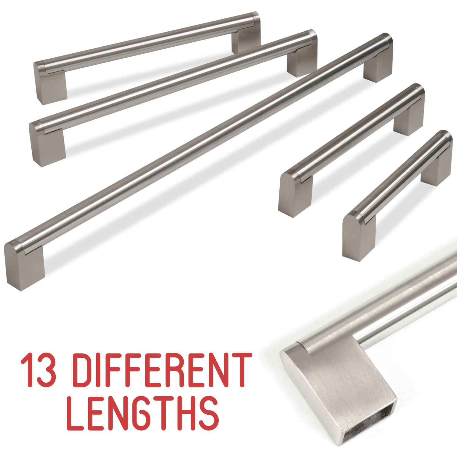 Door Handles Kitchen Cabinets: Kitchen Cupboard Cabinet Boss Bar Door Handle Brushed