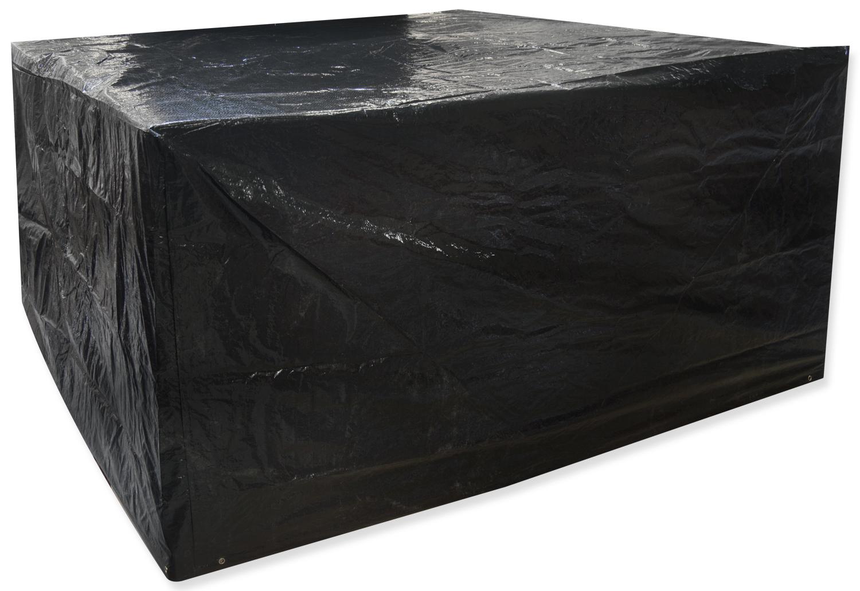 Woodside medium oval patio set cover black covers for Oval patio set cover