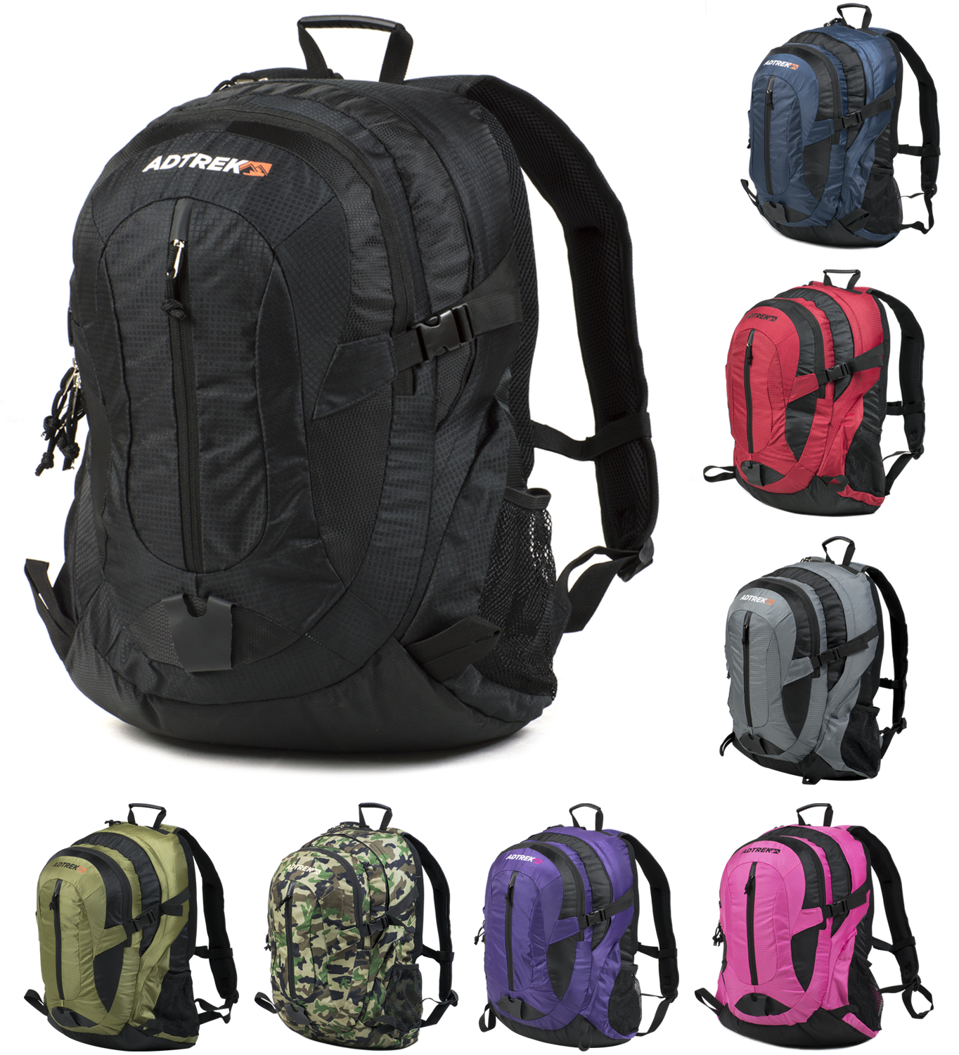 35 litre rucksack backpack camping hiking travel school. Black Bedroom Furniture Sets. Home Design Ideas