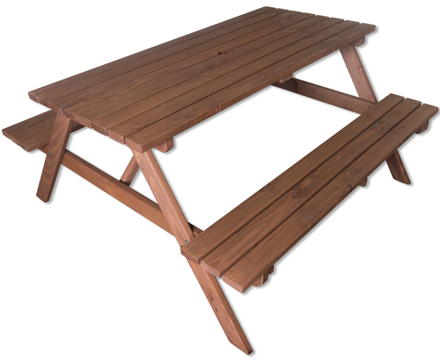 Woodside ft outdoor pressure treated picnic pub bench